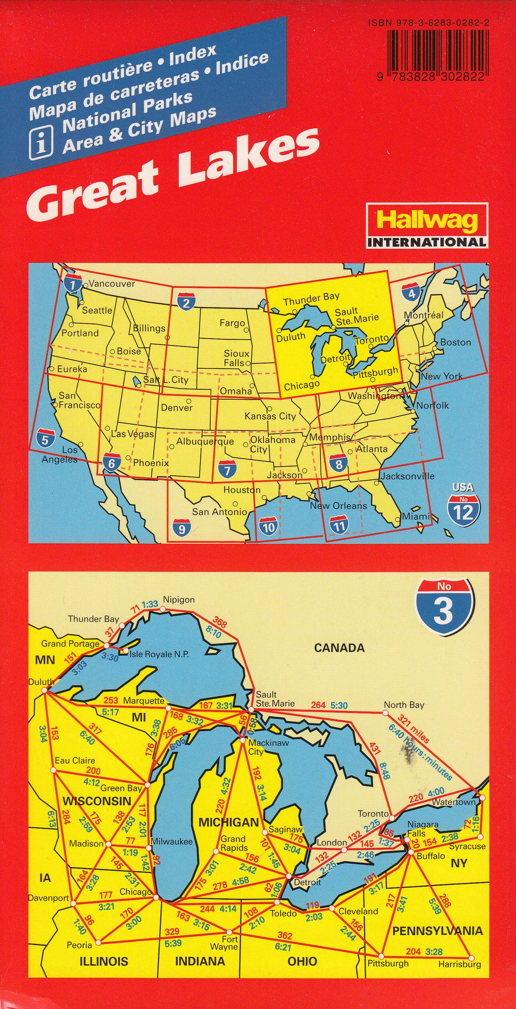 USA Road Maps Hallwag, Buy Maps of USA - Mapworld