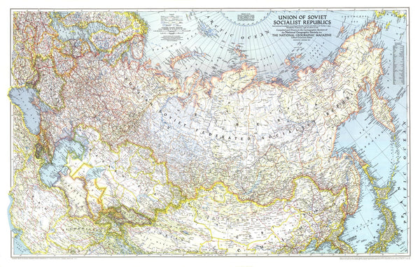 Union of Soviet Socialist Republics 1938-1944 - Published 1944 by National Geographic