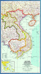 Vietnam, Cambodia, Laos and Eastern Thailand - Published 1965 by National Geographic