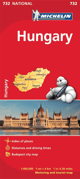 Hungary Michelin Map