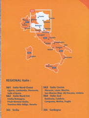 Italy North East Map Michelin 562