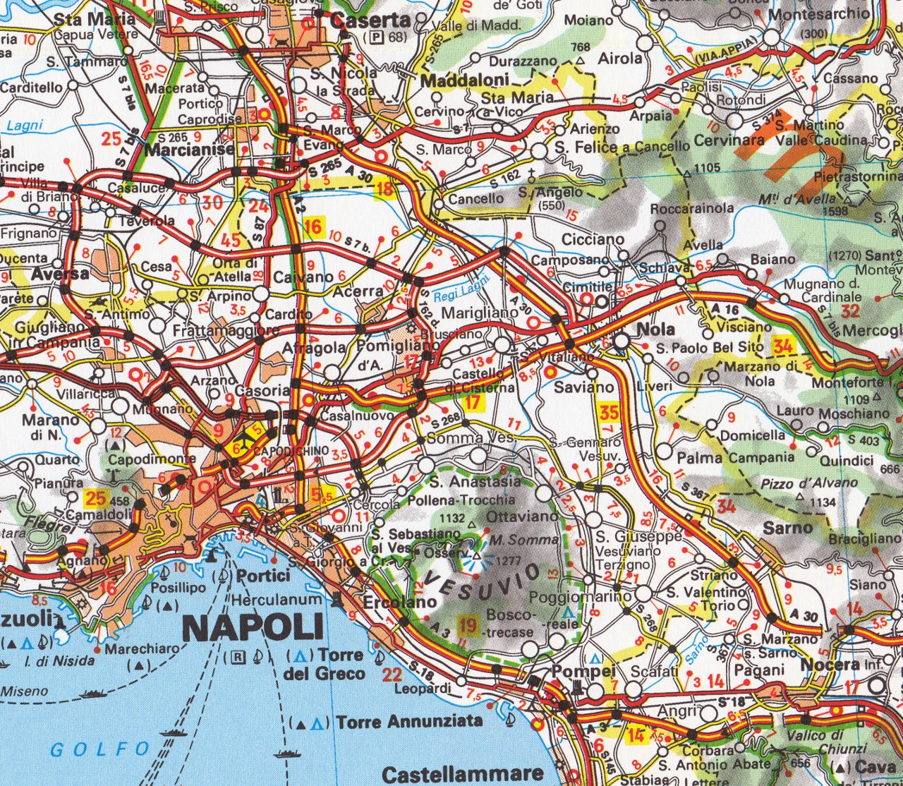 Map Of South Italy.Italy South Map Michelin 564