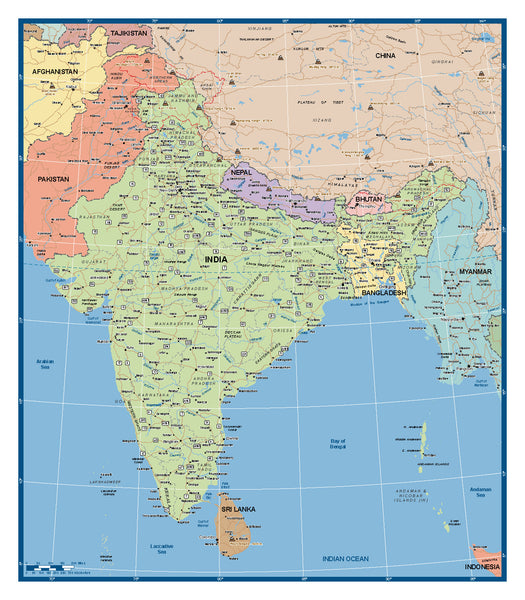 India Supermap 900 x 1000mm - BMA