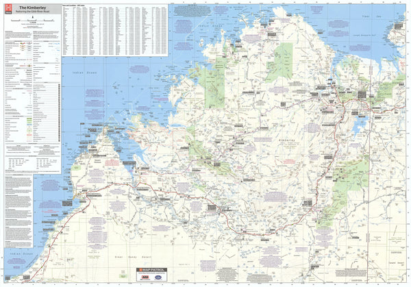 Kimberley Hema Map 1000 x 700mm Laminated Wall Map