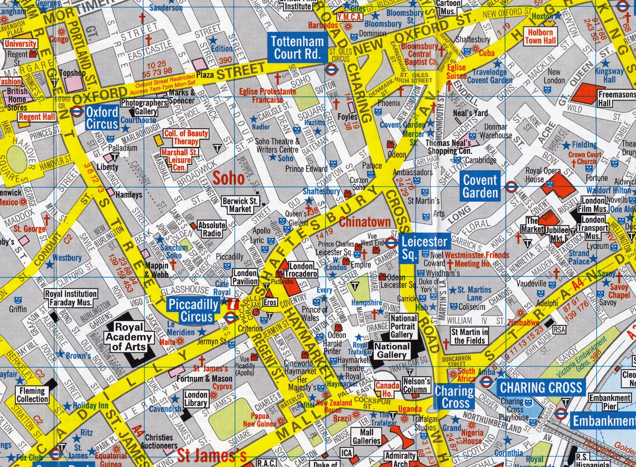 Visitors Map Of London.London Visitors A Z Map
