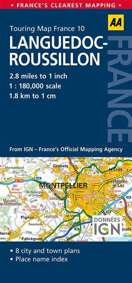 Languedoc-Roussillon AA France Touring Map 10