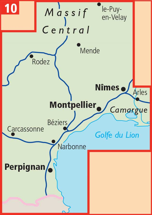 Roussillon France Map.Languedoc Roussillon Aa France Touring Map 10 Buy Map Of Languedoc