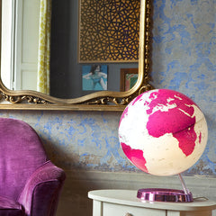 Light & Colour Hot Pink Atmosphere Illuminated 30cm Globe