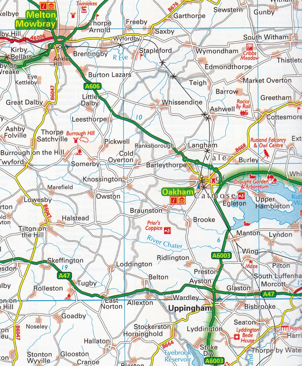 Map Of England Midlands.Midlands Central England Aa Road Map 5