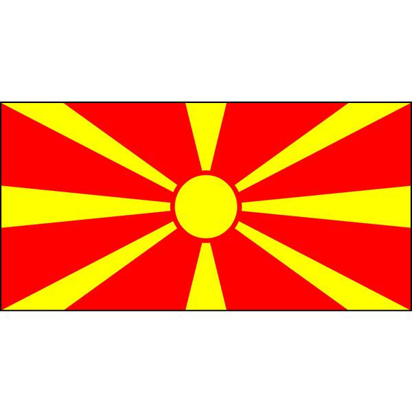 Macedonia Flag 1800 x 900mm