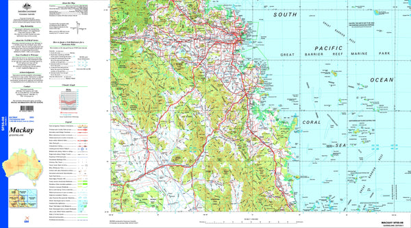Mackay SF55-08 Topographic Map 1:250k