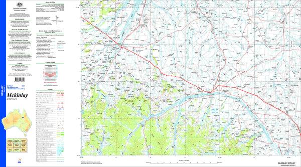 Mckinlay SF54-07 Topographic Map 1:250k