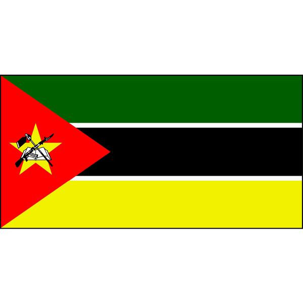 Mozambique Flag 1800 x 900mm