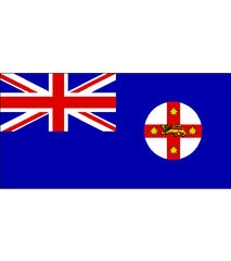 New South Wales NSW State Flag (knitted) 1800 x 900mm
