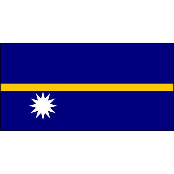 Nauru Flag 1800 x 900mm