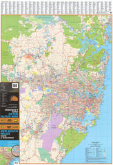 New South Wales UBD 270 Map 1000 x 690mm Laminated Wall Map with Hang Rails