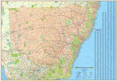 New South Wales State UBD Map 2000 x 1400mm Laminated Wall Map