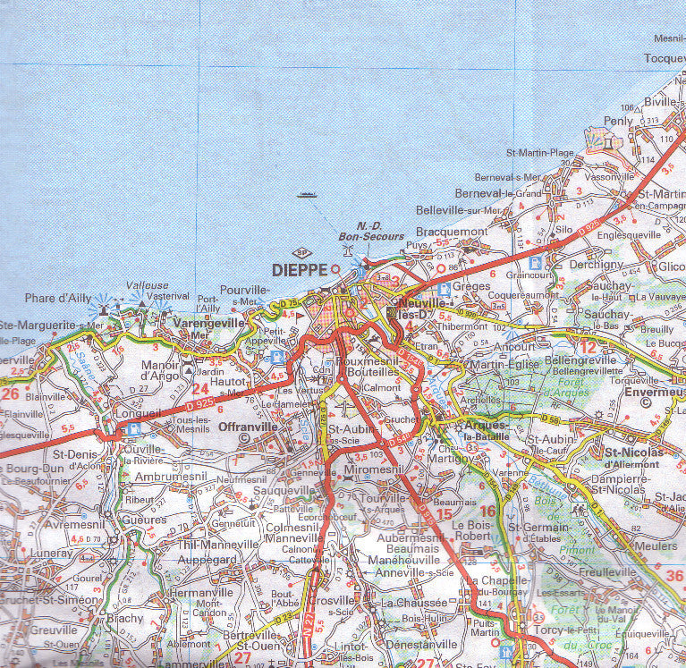 Map of normandy france