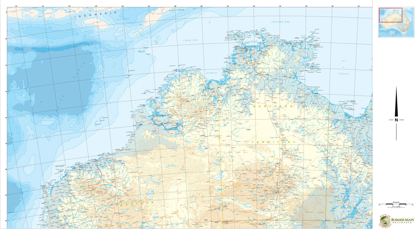Map Of North West Australia.North West Australia Cyclone Tracking 1150 X 850mm Bma Laminated Wall Map