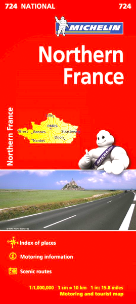 Northern France Michelin Map