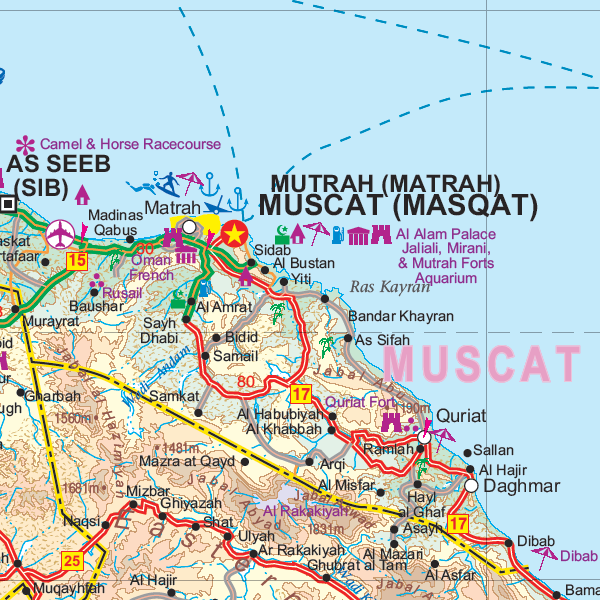 Oman UAE ITMB Buy Map of Oman and United Arab Emirates – Map of Oman and Uae