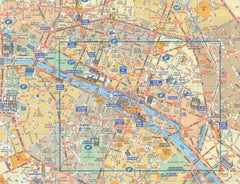 Paris Michelin 52 Tourism Map