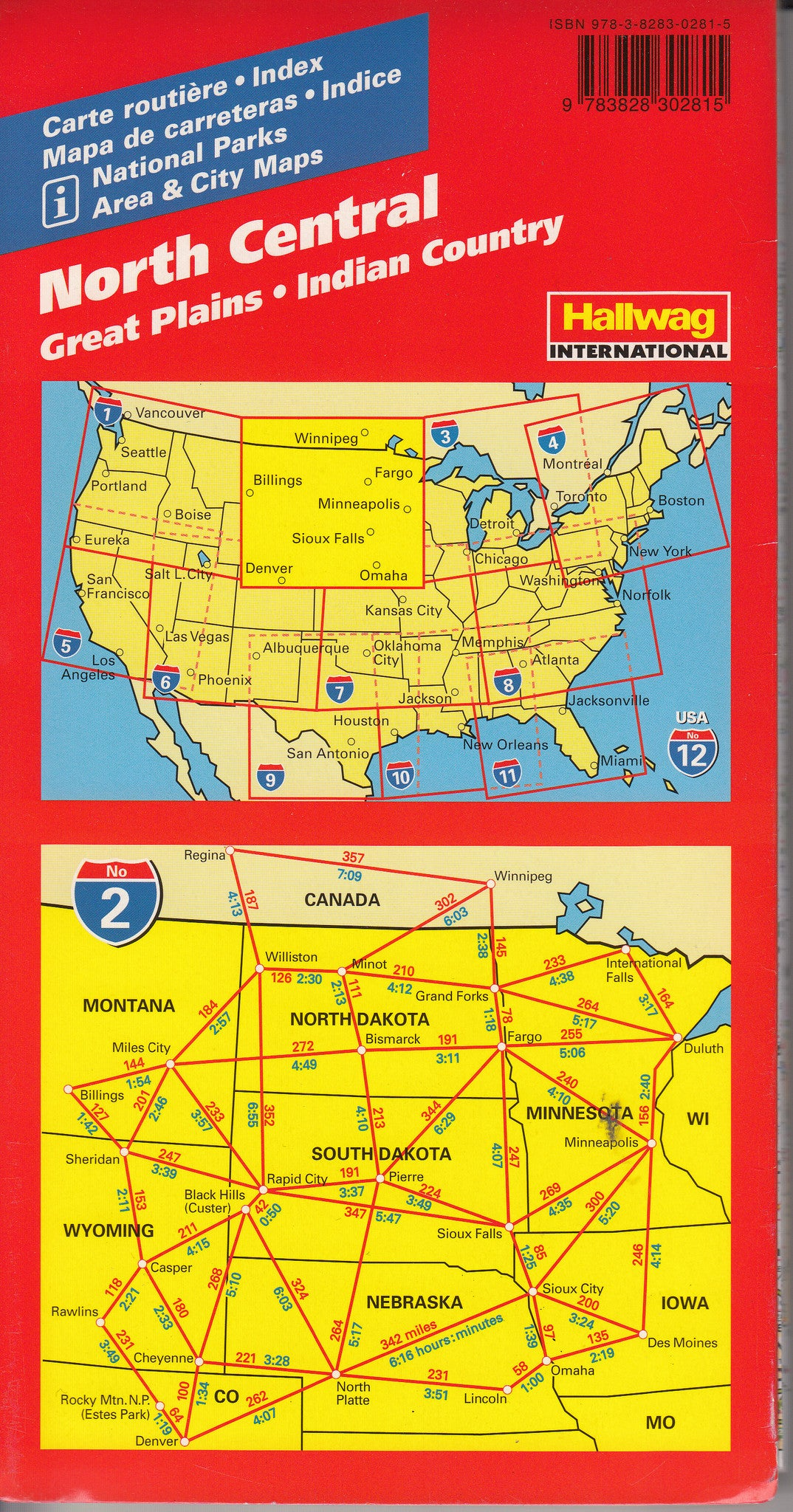 USA Road Maps Hallwag