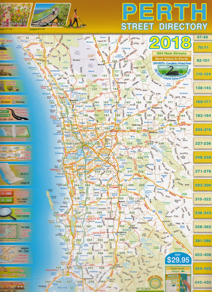 Perth Street Directory QPA 2018 Spiral Bound