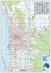 Perth Postcode Map Laminated Wall Map 788 x 1120mm
