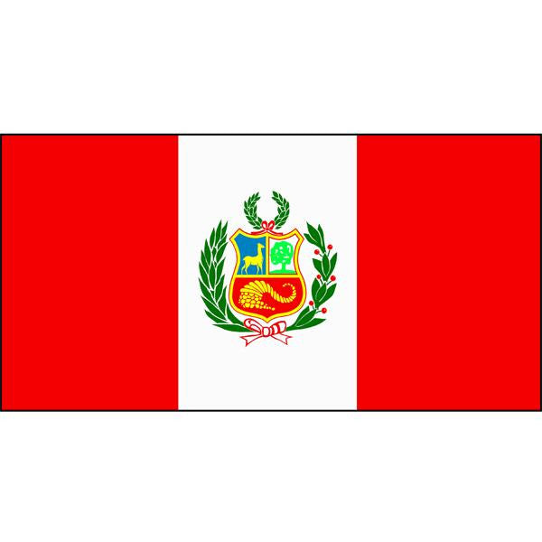 Peru (with crest) Flag 1800 x 900mm
