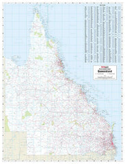 Brisbane & Queensland Postcode 788 x 1036mm Laminated Wall Map