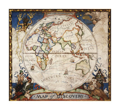 Map of Discovery, Eastern Hemisphere by National Geographic