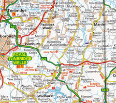 South East England AA Road Map 3