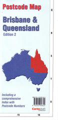 Brisbane & Queensland Folded Postcode Map