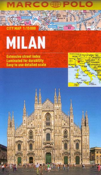 Milan Folded Laminated Marco Polo Map