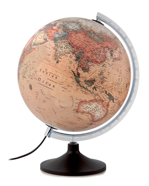 Solid A Antique Atmosphere Illuminated 30cm Globe