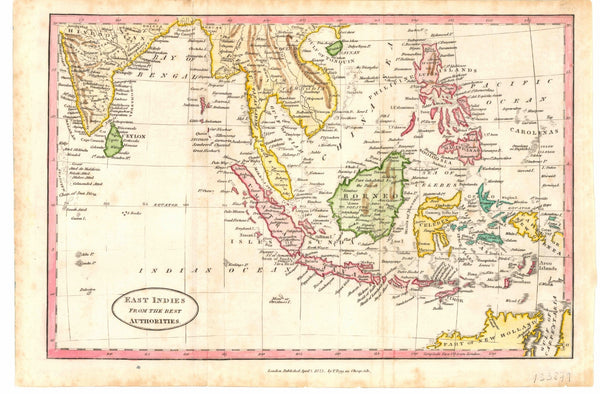 South East Asia (1823) Print