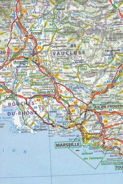 Map South Of France.Southern France Michelin Map 725