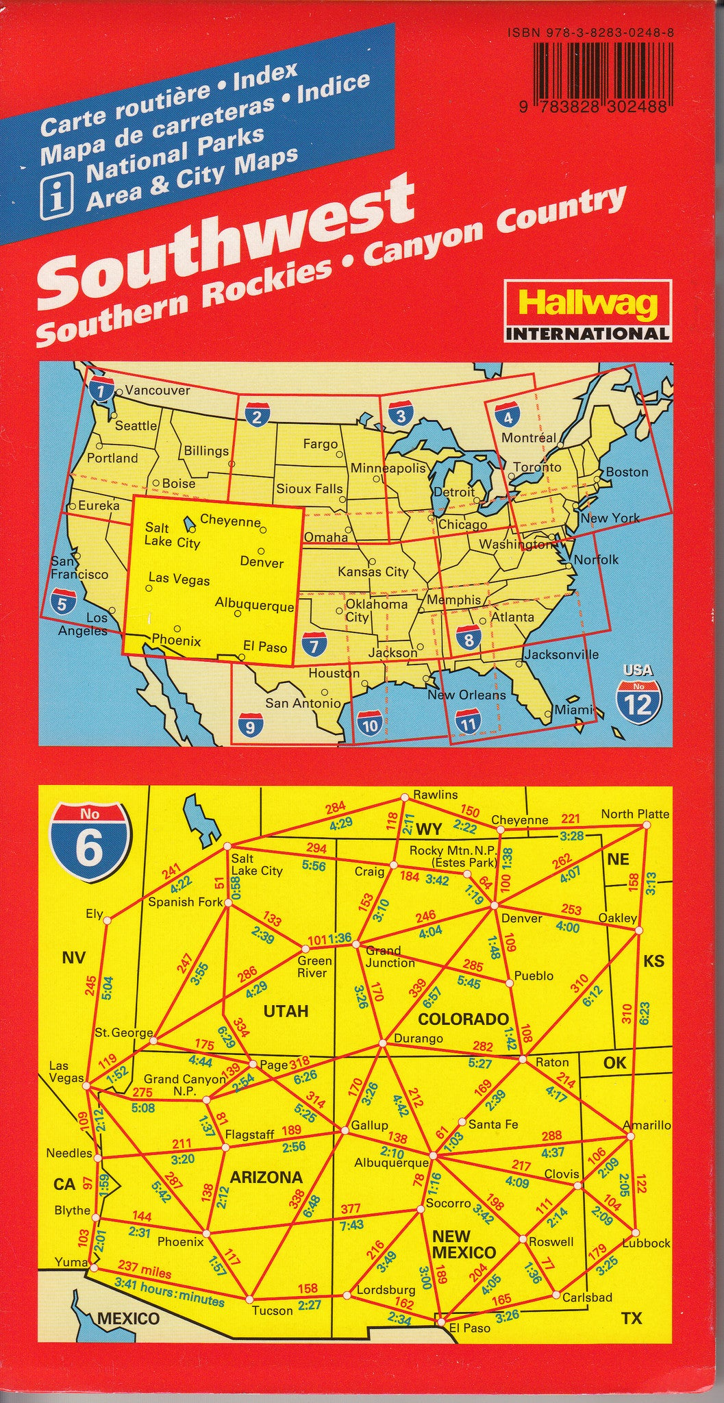 Southwest Maine Map USA  Road Guide Southwest Southern Rockies - Southwest usa highway map
