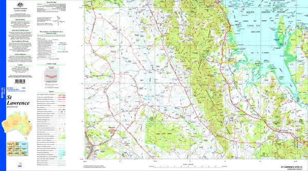 St Lawrence SF55-12 Topographic Map 1:250k