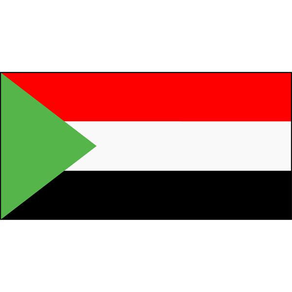 Sudan Flag 1800 x 900mm