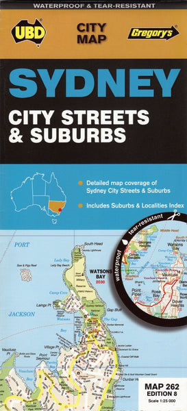 Sydney City Streets & Suburbs Map UBD 262