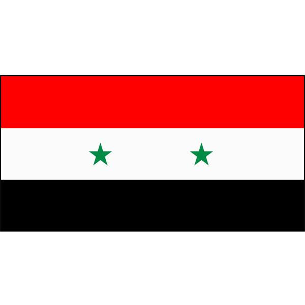 Syria Flag 1800 x 900mm