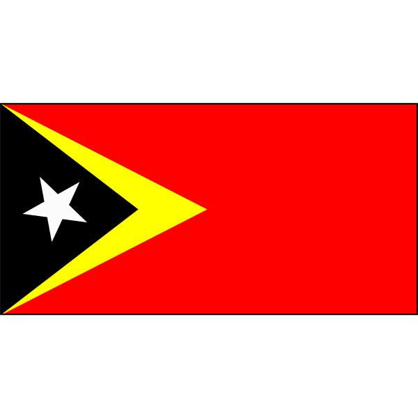 Timor-Leste (formerly East Timor) Flag 1800 x 900mm