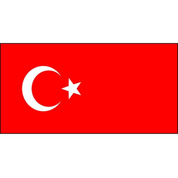 Turkey Flag 1800 x 900mm