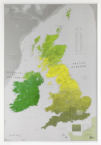 Buy maps of great britain and ireland mapworld british isles map version 1 700 x 1000mm laminated gumiabroncs Images