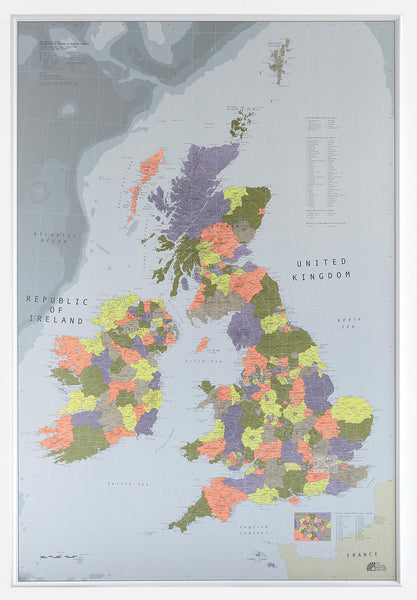 British Isles Map (Version 2) 700 x 1000mm Laminated