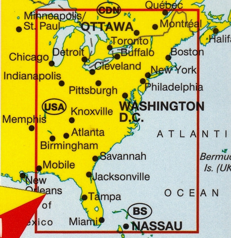 Usa East Marco Polo Buy Map Of Eastern Usa Mapworld