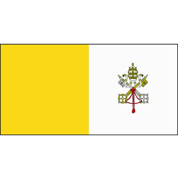 Vatican City Flag 1800 x 900mm