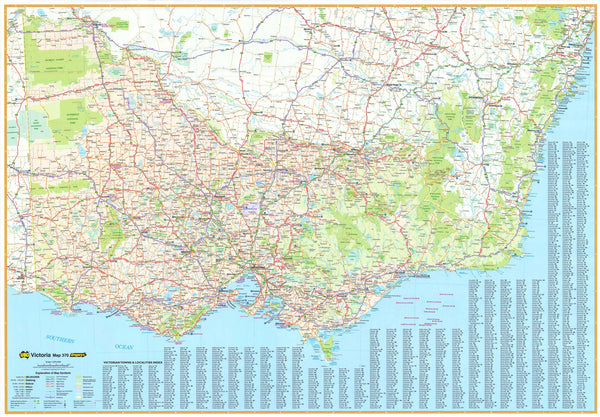 Victoria State Map Ubd 370 Buy Maps Of Victoria Mapworld